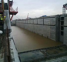 Partial filling of the Pacific sluices