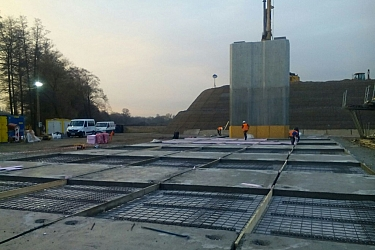 In situ execution of the E210 deck viaduct